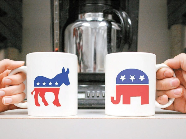 politics_in_the_workplace_coffee_mugs_donkey_elephant_Republican_Democrat